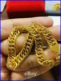 22K Fine 916 Solid Gold Real Curb Unisex Mens Womens Bracelet 8 Long 8mm 12.4g