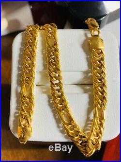 22K Fine 916 Solid Saudi Gold Mens Bracelet 8.2 Long 6.5mm USA Seller