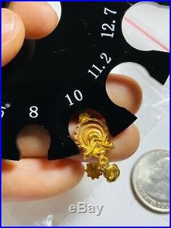 22K Fine Yellow Solid Saudi Gold Set Dangle Earring USA Seller