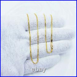 22K Gold Chain Necklace Franco 20 Lobster Clasp Hallmarked 916 Thin 1.15mm 4.1g