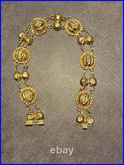 22K Gold Women Bracelet 7.75 Genuine Hallmarked 916 Handcrafted
