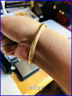 22K Saudi Gold Bangle Size Small 6-7