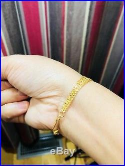 22K Saudi Gold Bracelet 6.5 long fits small