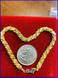 22K Saudi Gold Fine Mens Bracelet 8.8 Long