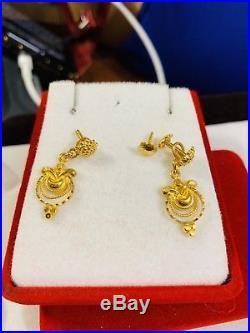 22K Saudi Gold Set Earring