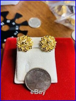 22K Saudi Gold Set Womens Earring