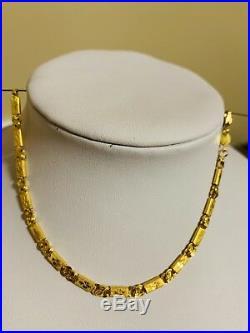 22K Saudi Gold Solid Bracelet Size 7.5