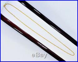 22K Solid Gold Chain Necklace 15.75 Wheat Choker 1.1mm THIN 2.6gm Hallmark 22K