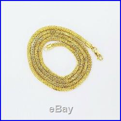 22K Solid Gold Chain Necklace 20.25 Round 2.6mm Thick Hallmark 916 High Quality