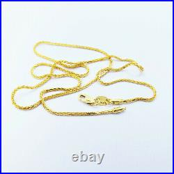 22K Solid Gold Chain Necklace 22 Wheat 1.4mm Thick Hallmarked 916 HIGH QUALITY