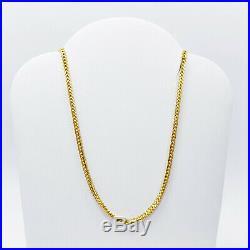 22K Solid Yellow Gold Chain Necklace 18 Franco Genuine Hallmarked 916 GOLDSHINE