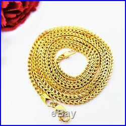 22K Solid Yellow Gold Chain Necklace 19.5 Franco Genuine Hallmark 916 GOLDSHINE