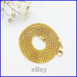 22K Solid Yellow Gold Chain Necklace 20 Franco Genuine Hallmarked 916 GOLDSHINE