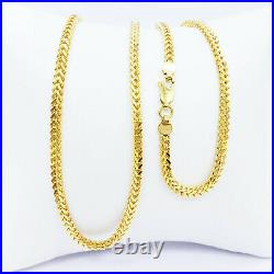 22K Solid Yellow Gold Franco Chain Necklace 20 2.95mm Hallmarked 916 GOLDSHINE