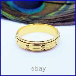 22K Solid Yellow Gold Men's Band Ring US Size 9 Genuine Hallmarked 916 GOLDSHINE