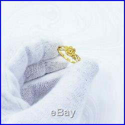 22K Solid Yellow Gold RING US Size 7 Women Genuine Hallmarked 22KT Handcrafted