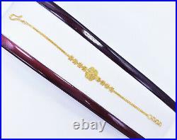 22K Solid Yellow Gold Women Bracelet 6.5-7.25 Handcrafted Genuine Hallmark 916
