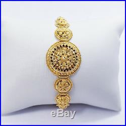22K Solid Yellow Gold Women Bracelet 6 7 Adjustable Hallmark 916 Handcrafted