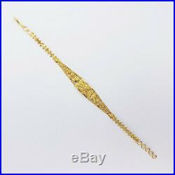 22K Solid Yellow Gold Women Bracelet 6.75-7.5 Genuine Hallmarked 916 GOLDSHINE