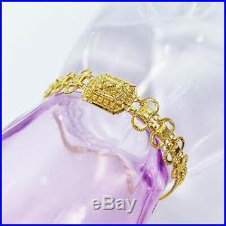 22K Solid Yellow Gold Women Bracelet 6.75-7.6 Genuine Hallmarked 916 GOLDSHINE