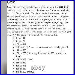22K Yellow Fine Saudi UAE Gold 916 Womens 7 long Damascus Bracelet 6mm 4.82g