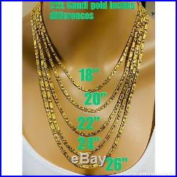 22K Yellow Gold 916 Mens Baht Chain Necklace With 24 Long 4mm USA Seller