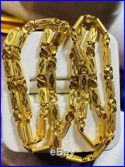 22K Yellow Gold 916 Womens Baht Chain Necklace With 18 Long 4mm USA Seller