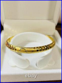 22K Yellow Gold 916 Womens Bangle Bracelet S/M 6-7 With 7mm 8.11g Fast Ship