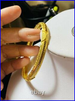 22K Yellow Gold 916 Womens Bangle Bracelet S/M 6-7 With 7mm 8.5g Fast Ship