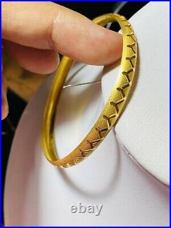 22K Yellow Gold 916 Womens Bangle Bracelet XS/S 6-6.5 With 6.5mm 6.33g Fast Ship