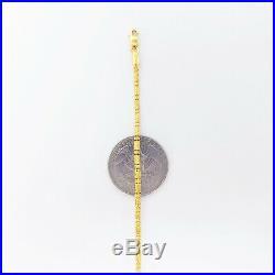 22K Yellow Gold Chain Necklace 20 Hollow Beaded Hallmark 916 Genuine GOLDSHINE