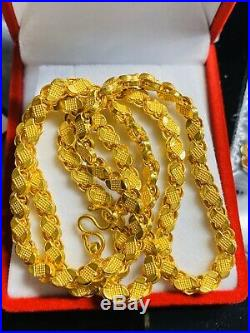 22K Yellow Gold Womens Damascus Necklace With 18 Long 5mm USA Seller