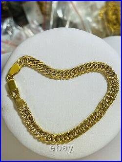 22K Yellow Saudi Gold 916 Womens 7.5 long Bracelet With 6.5mm 9.4g Beautiful