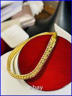 22K Yellow Saudi Gold 916 Womens 7 long Bracelet With 8mm 10.22g Beautiful