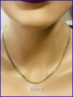 22K Yellow Saudi Gold 916 Womens Chain Necklace With 18 Long 10.7g Wide 4mm
