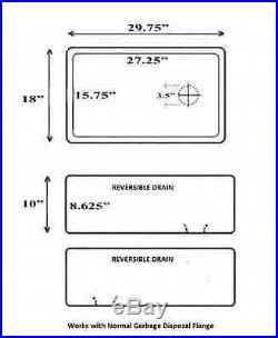 30 30 inch Fireclay Farmhouse Sink Apron WHITE OffSet Drain A Grade Quality