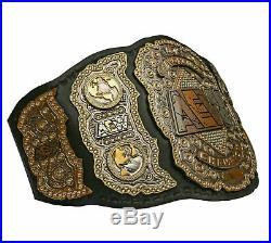 AEW World Heavyweight Championship leather Belt Zinc Plated