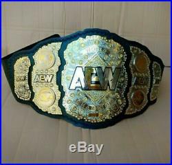 AEW World Heavyweight Championship wrestling leather Belt 2mm Plate