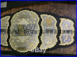 AEW World Heavyweight Wrestling Championship Belt 2mm Dual Brass Plate