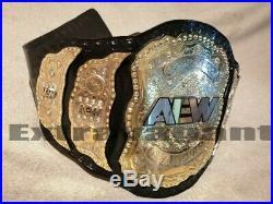 AEW World Wrestling Championship Belt Adult Size Leather Strap