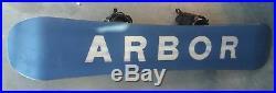 Arbor Foundation 158cm Snowboard K2 Cinch CTI Snowboarding Universal Bindings
