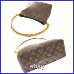 Auth LOUIS VUITTON Looping GM Shoulder Bag Monogram Leather Brown M51145 11JC739