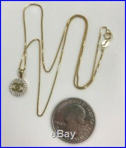 Authentic 100% Pure Gold 18k both Necklace & Pendant 18 Chain (2.8g)