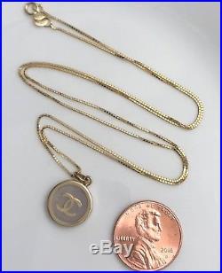 Authentic 100% Pure Gold18k both Necklace & Pendant 20 (3.5g)