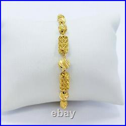 Bracelet GENUINE 22K Solid Yellow Gold 7.25 Women Teen Hallmark 916 Handcrafted
