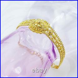 Bracelet GENUINE 22K Solid Yellow Gold Women 6.4-7.4 Hallmark 916 Handcrafted