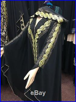 Bridal Abaya Made With Crystal Design Front And Back