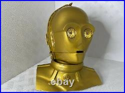 C3PO Head with LED eyes and stand