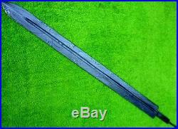 CUSTOM DAMASCUS STEEL KNIFE / HUNTING VIKING SWORD BLANK BLADE DAGGER 30 inches