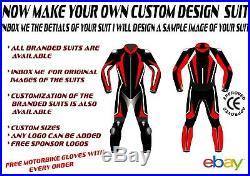 CUSTOM DESIGN MOTORBIKE MOTORCYCLE LEATHER 1.3mm RACING/STREET 1 & 2 PIECE SUIT